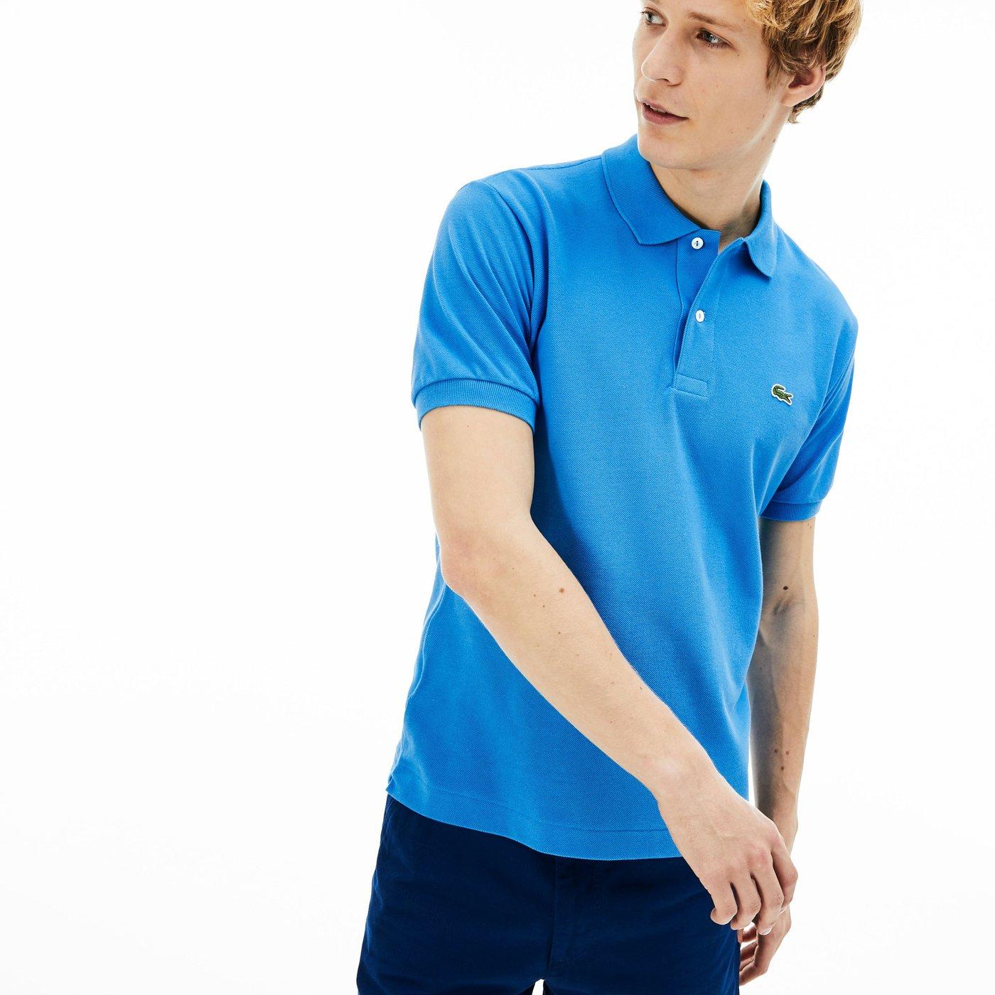 Lacoste L1212 Erkek Mavi Regular Polo