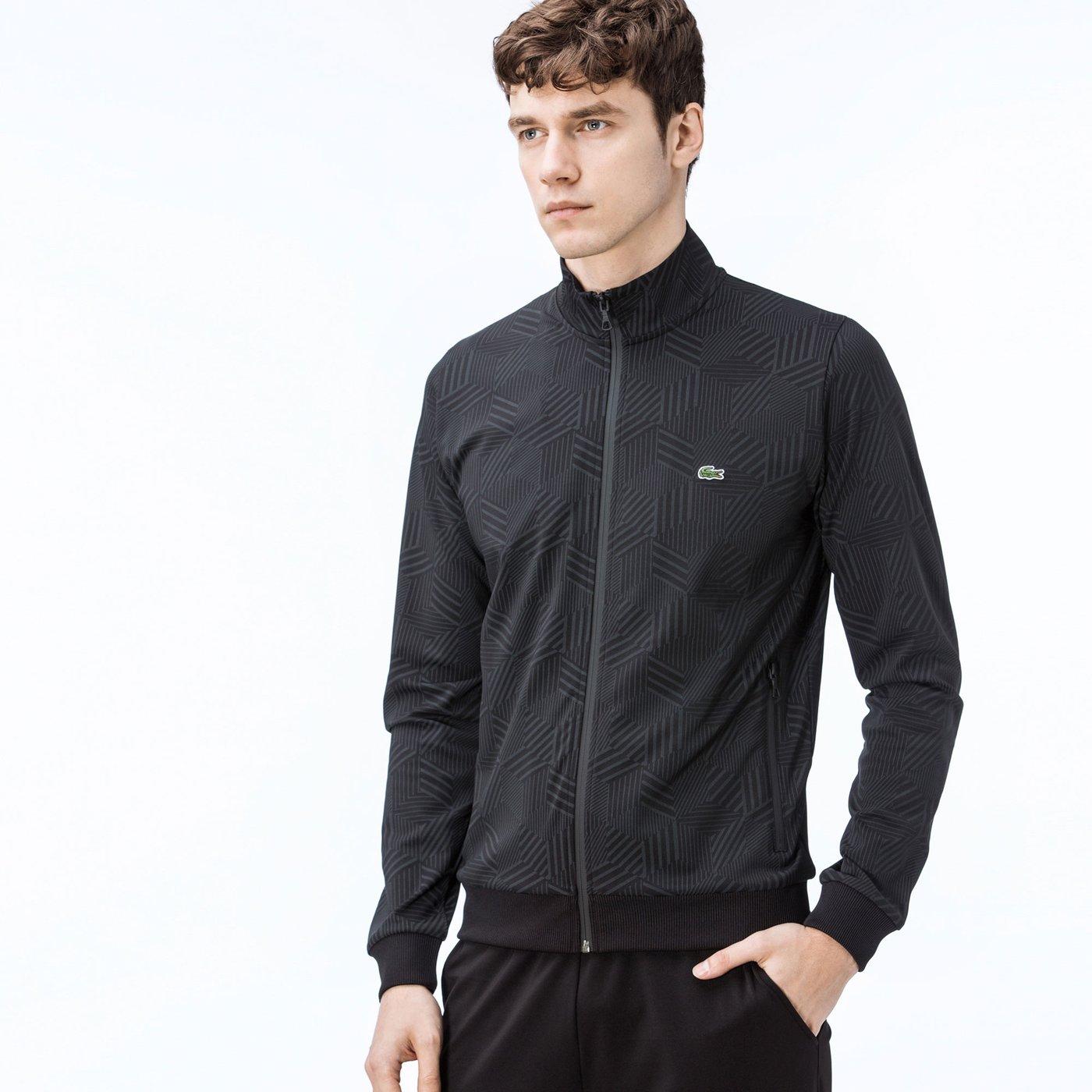 Lacoste Erkek Siyah Fermuarlı Sweatshirt