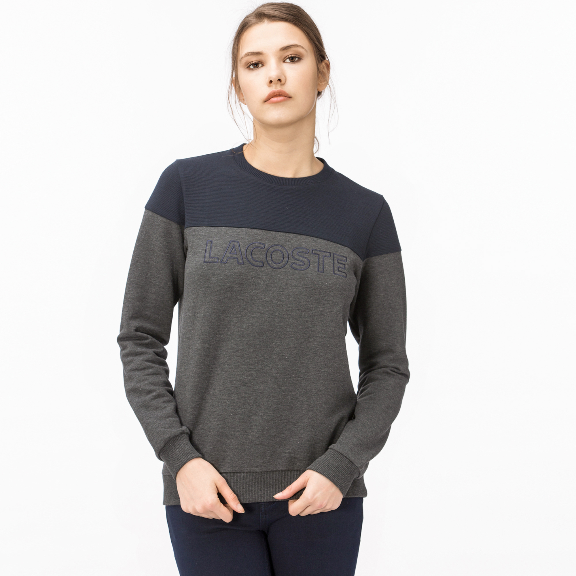 Lacoste Kadın Gri Lacivert Lacivert Lacoste Kadın Lacoste Lacivert Gri Sweatshirt Kadın Sweatshirt 0wO8NnPkX