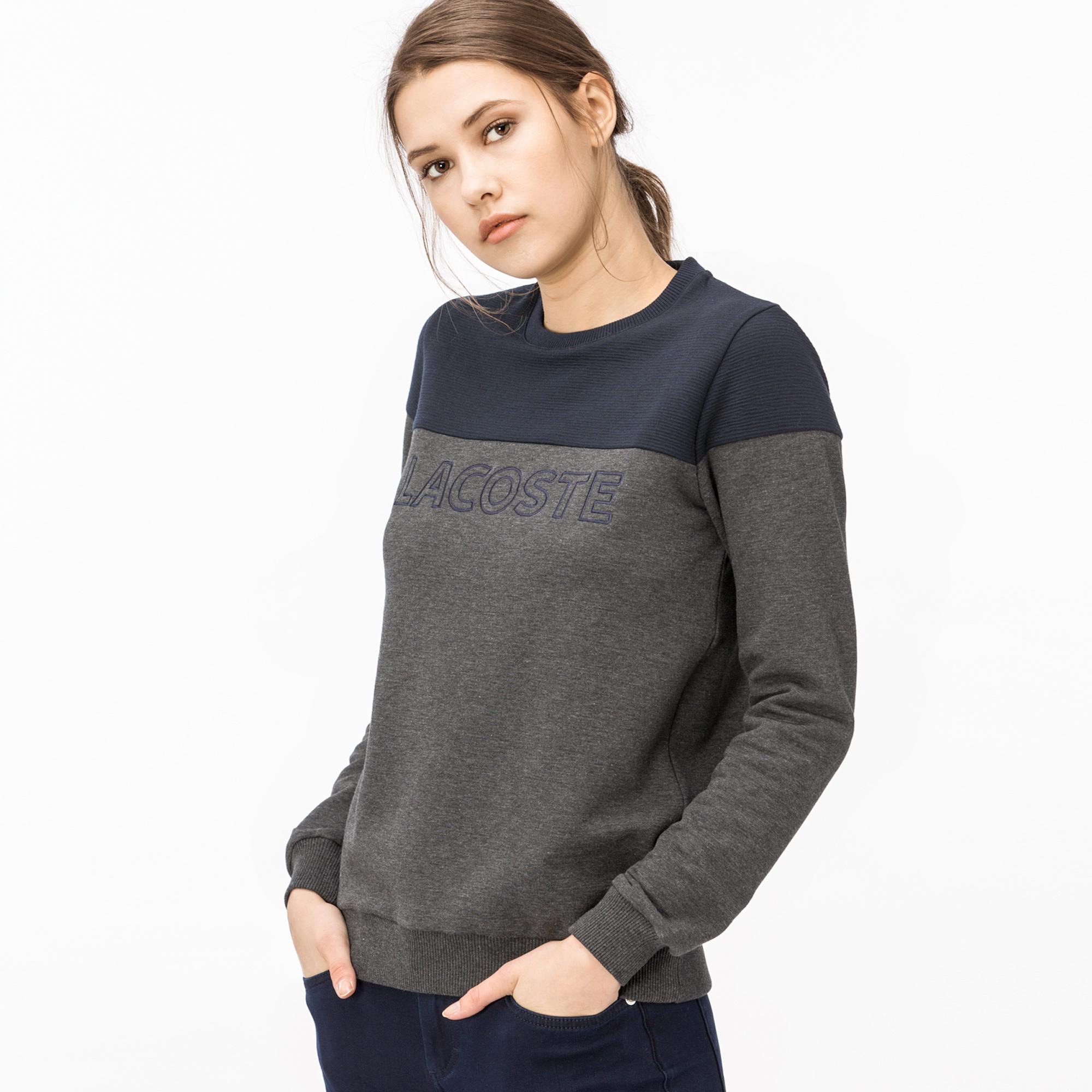 Lacoste Kadın Lacivert-Gri Sweatshirt