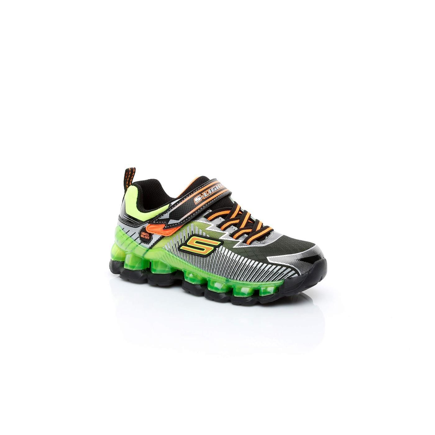 Skechers Flashpod- Scoria Işıklı Çocuk Yeşil Spor Ayakkabı