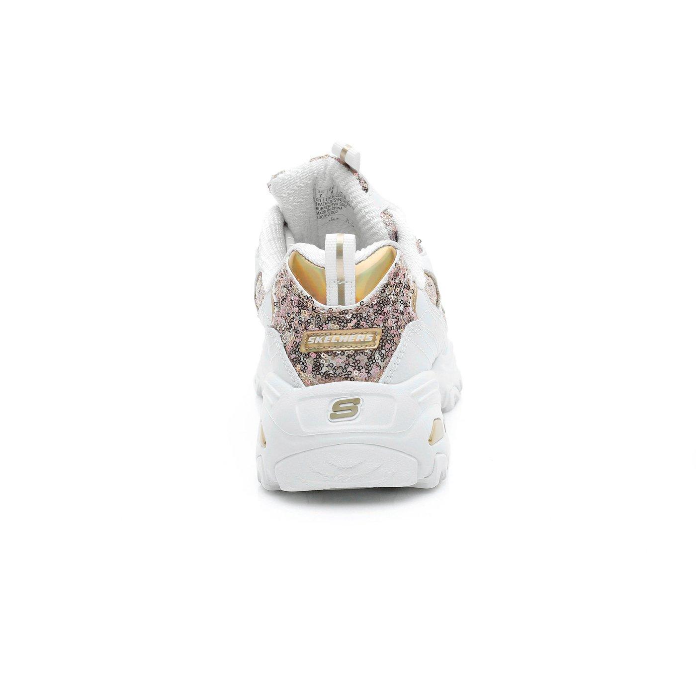 Skechers D'Lites-Fame & Fortune Kadın Beyaz Sneaker