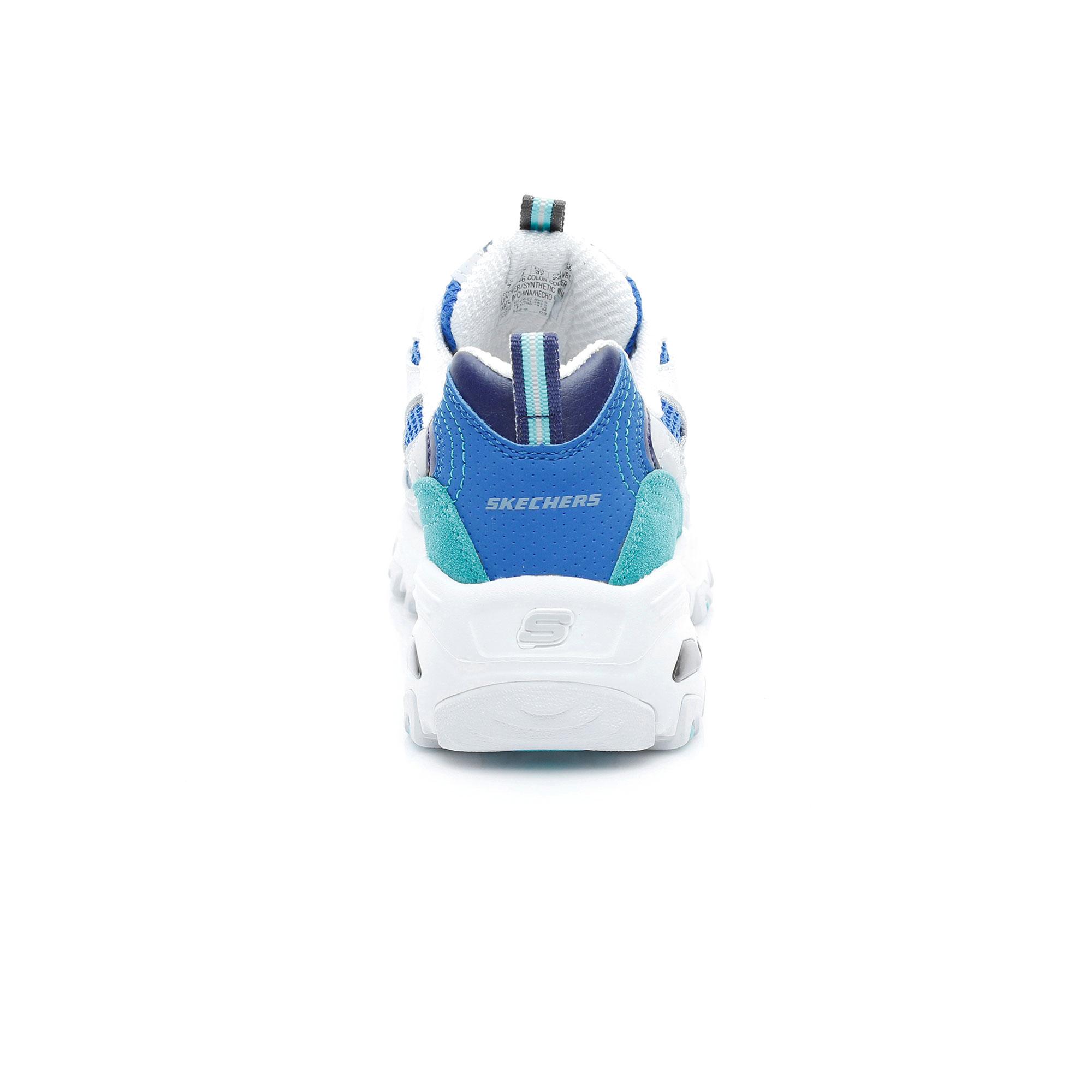 Skechers D'Lites-Second Chance Kadın Beyaz-Mavi Spor Ayakkabı