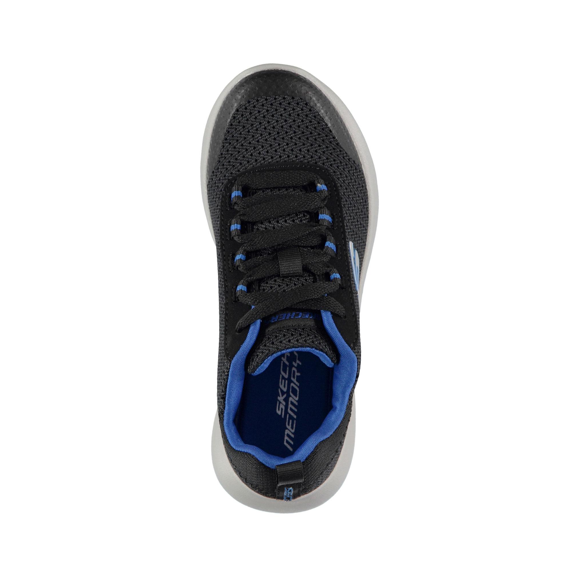 Skechers Dynamight- Turbo Dash Erkek Çocuk Siyah-Mavi Spor Ayakkabı