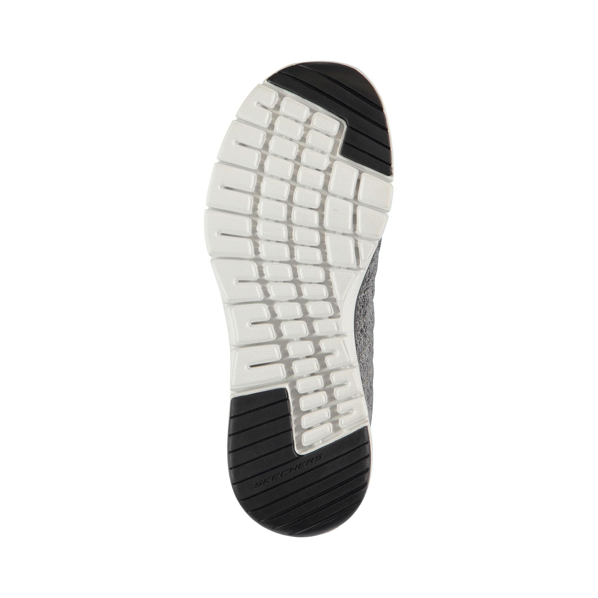 Skechers Flex Advantage 3.0- Stally Erkek Gri-Siyah Spor Ayakkabı