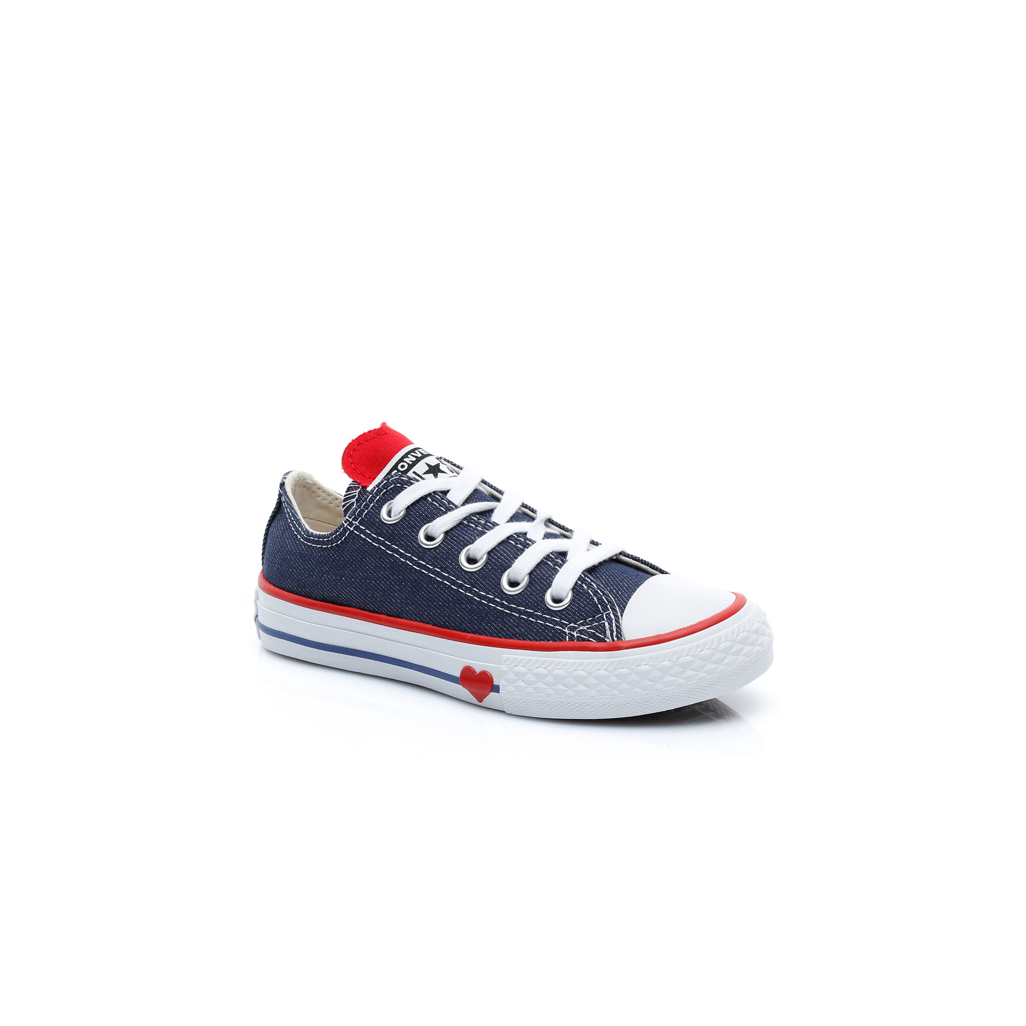 Converse Chuck Taylor All Star Denim Love Çocuk Lacivert Sneaker