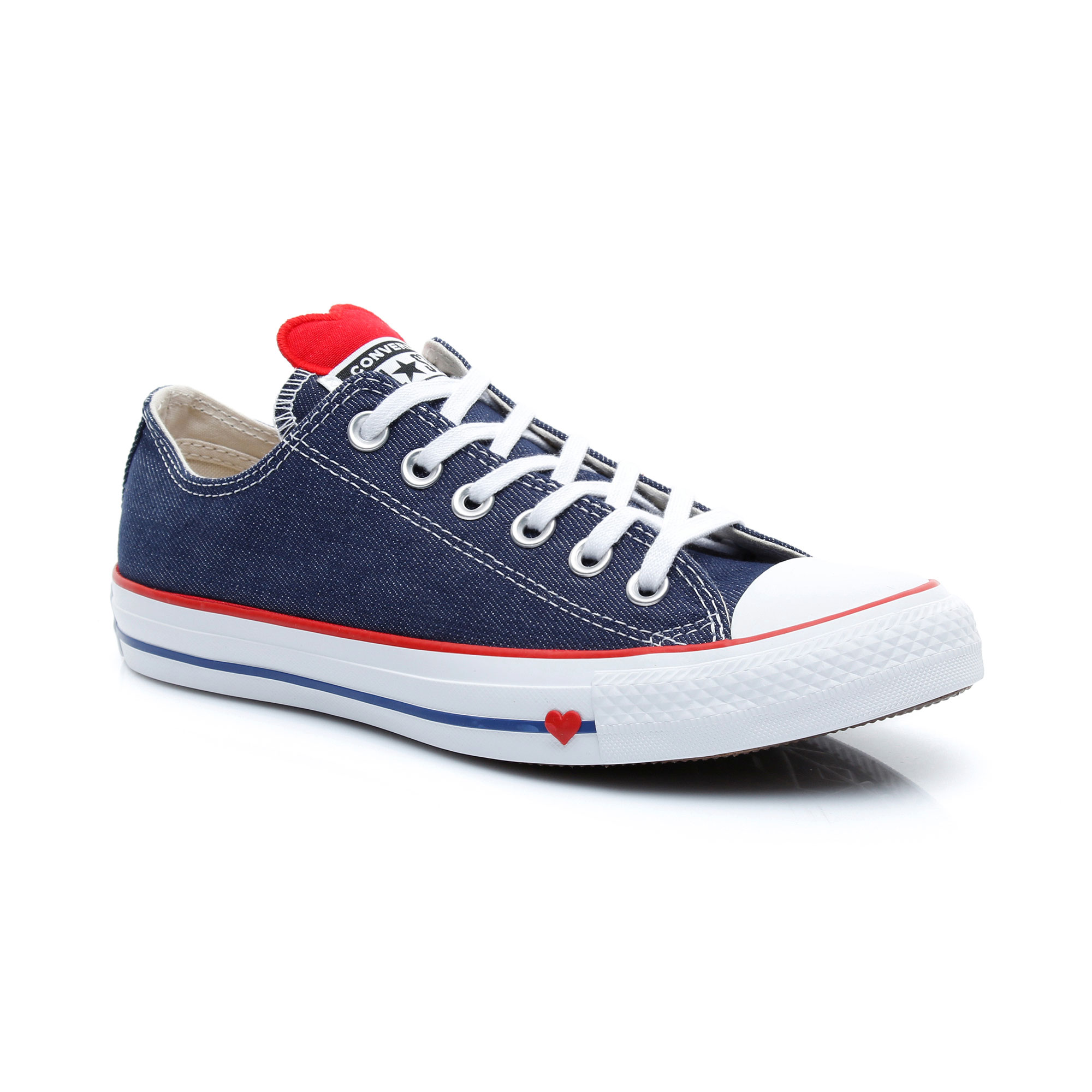 Converse Chuck Taylor All Star Denim Love Kadın Lacivert Sneaker
