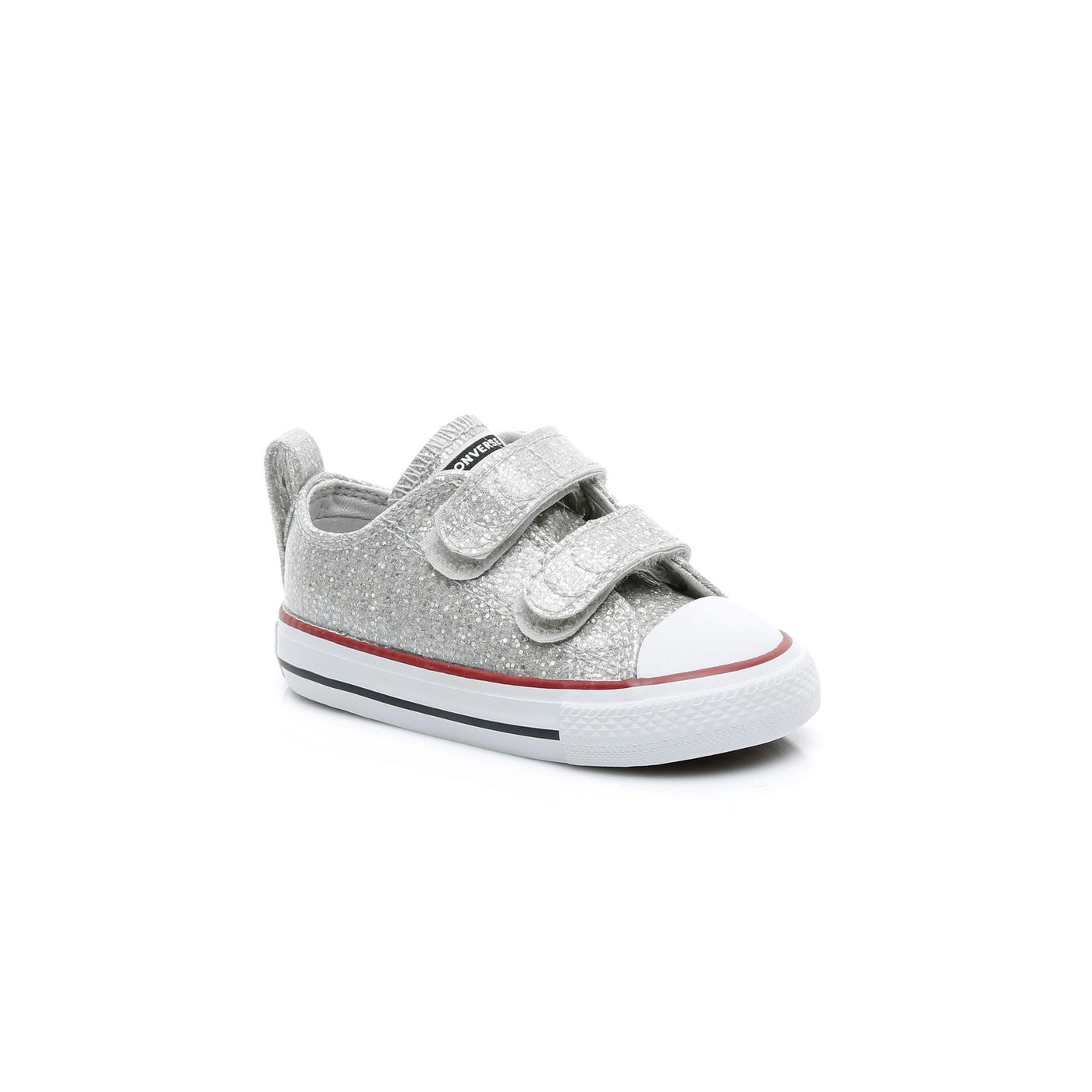 Converse Chuck Taylor All Star 2V Sparkle Çocuk Gri Sneaker
