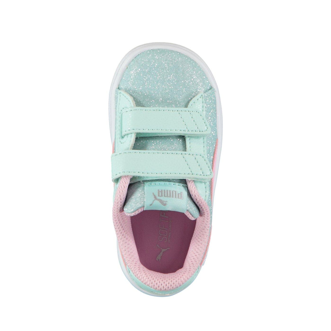 Puma Smash V2 Glitz Glam Çocuk Mavi Spor Ayakkabı