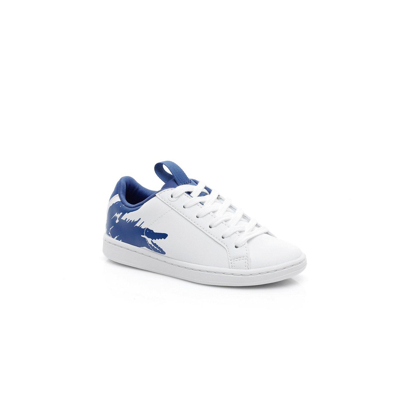 Lacoste Çocuk Beyaz - Mavi Carnaby Evo 119 1 Spor Ayakkabı