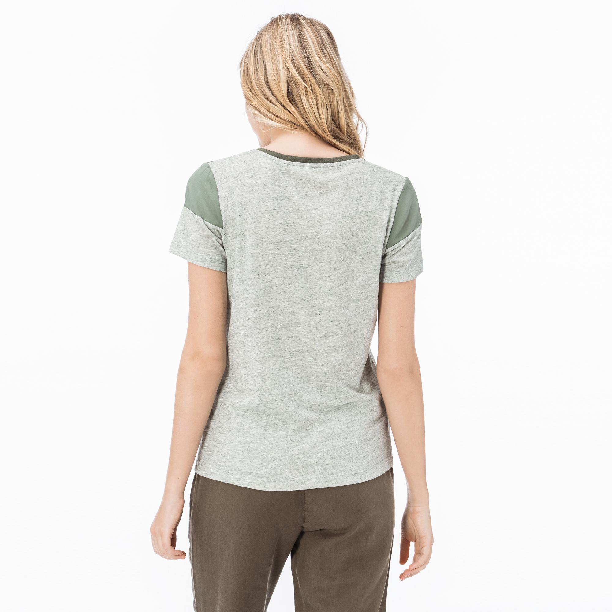 Lacoste Kadın Haki T-Shirt
