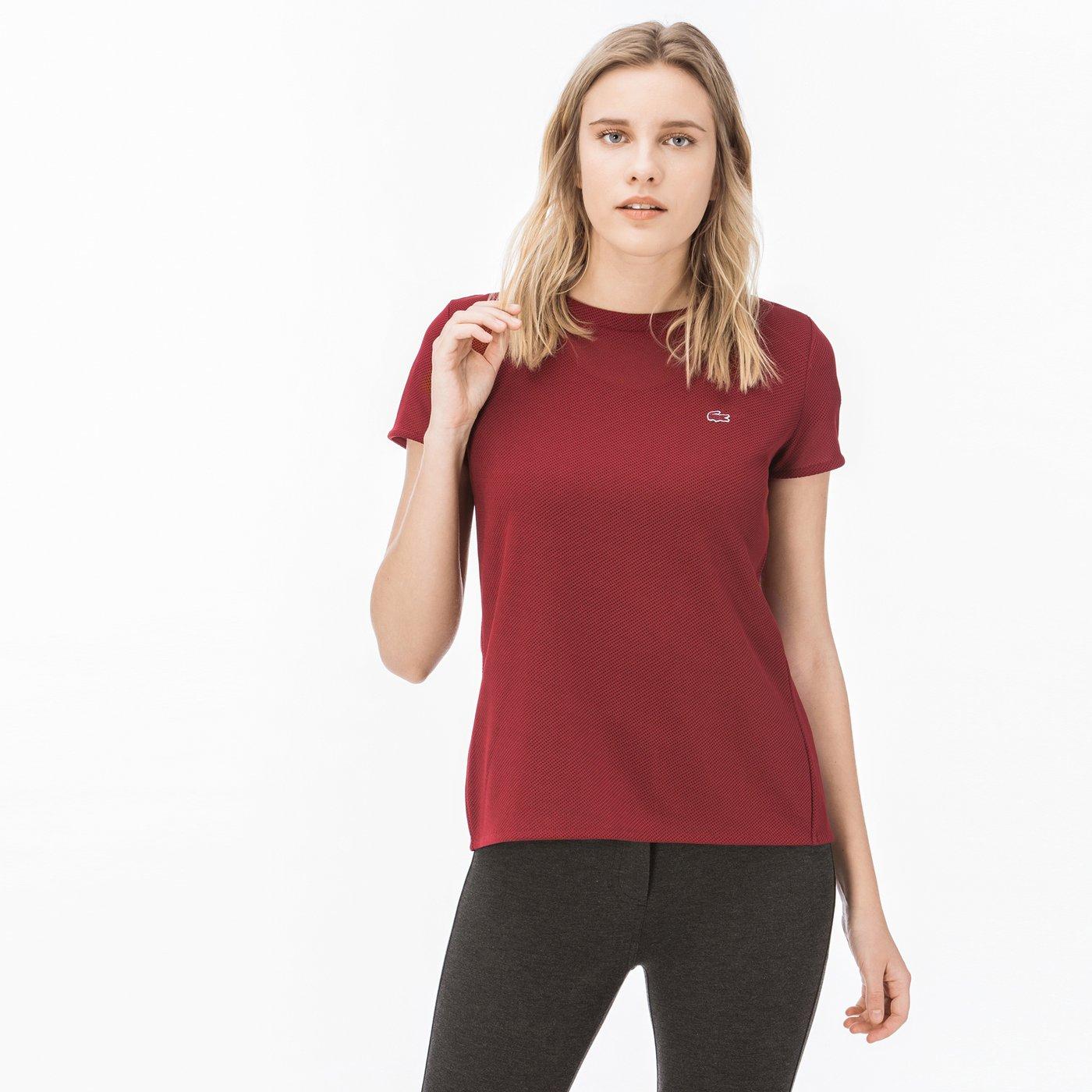 Lacoste Kadın Bordo T-Shirt