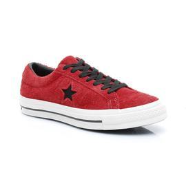Converse One Star Dark Star Vintage Suede Erkek Kırmızı Sneaker