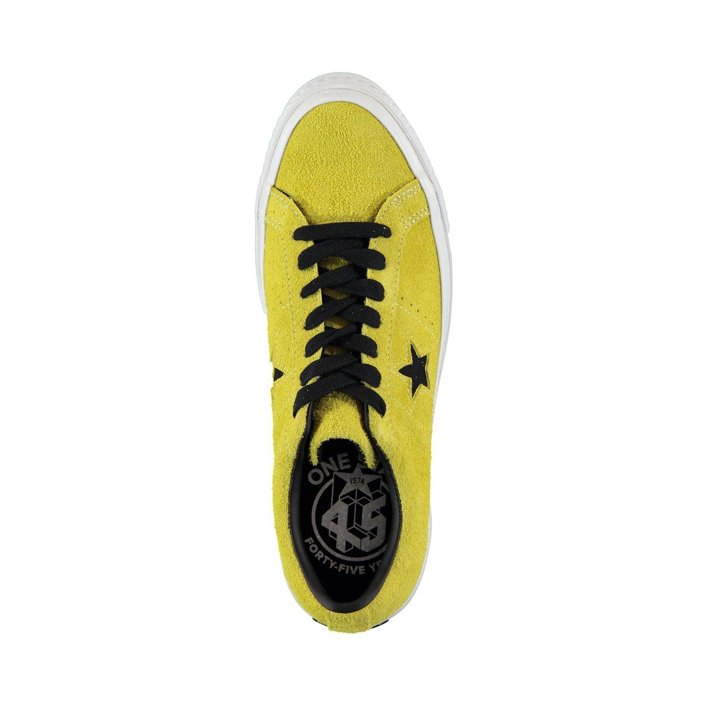 Converse One Star Dark Star Vintage Suede Erkek Sarı Sneaker