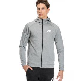 Nike Av15 Crw Flc Erkek Gri Kapüşonlu Fermuarlı Sweatshirt