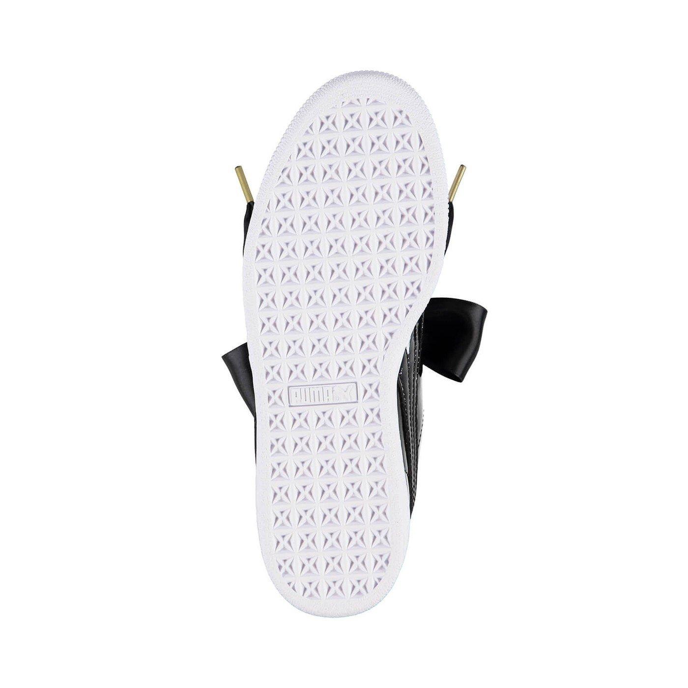 Puma Basket Heart Patent Kadın Siyah Spor Ayakkabı