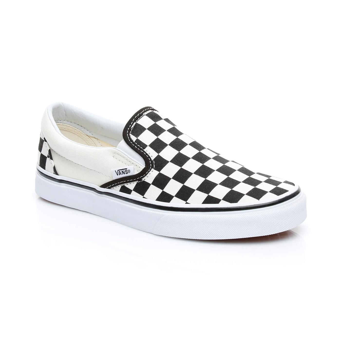 Vans Classic Erkek Siyah-Beyaz Slip On Ayakkabı
