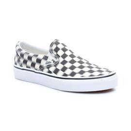 Vans UA Classic Slip-On Unisex Siyah-Beyaz Sneaker