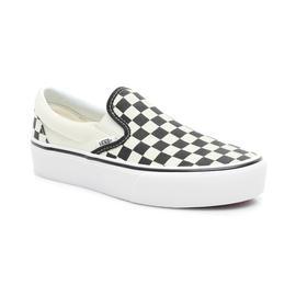Vans UA Classic Slip-On Platform Unisex Siyah-Beyaz Sneaker