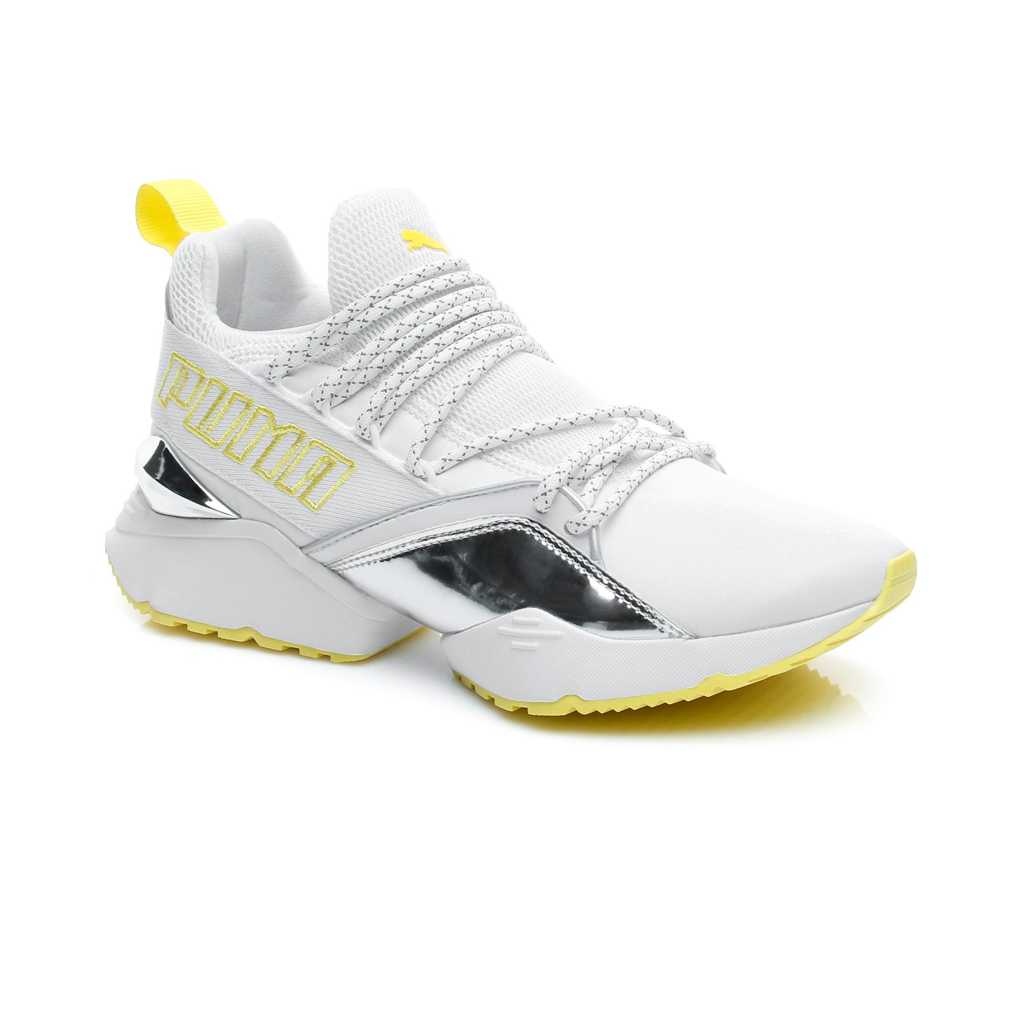 Puma Muse Maia Tz Metallic Kadın Beyaz Spor Ayakkabı.369492.01
