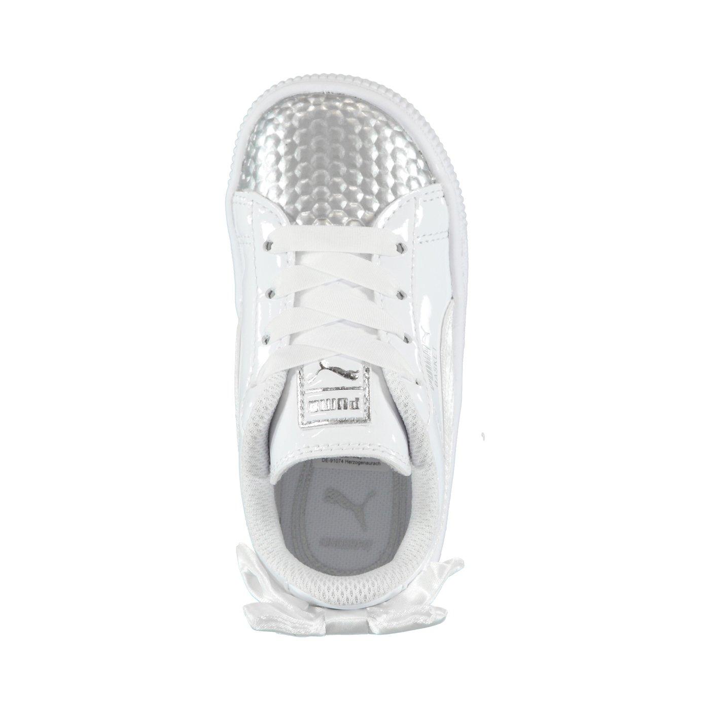 Puma Basket Bow Coated Glam Çocuk Beyaz Spor Ayakkabı
