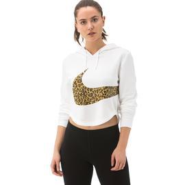Nike Sportswear Cropped Hoodie Kadın Beyaz Sweatshirt