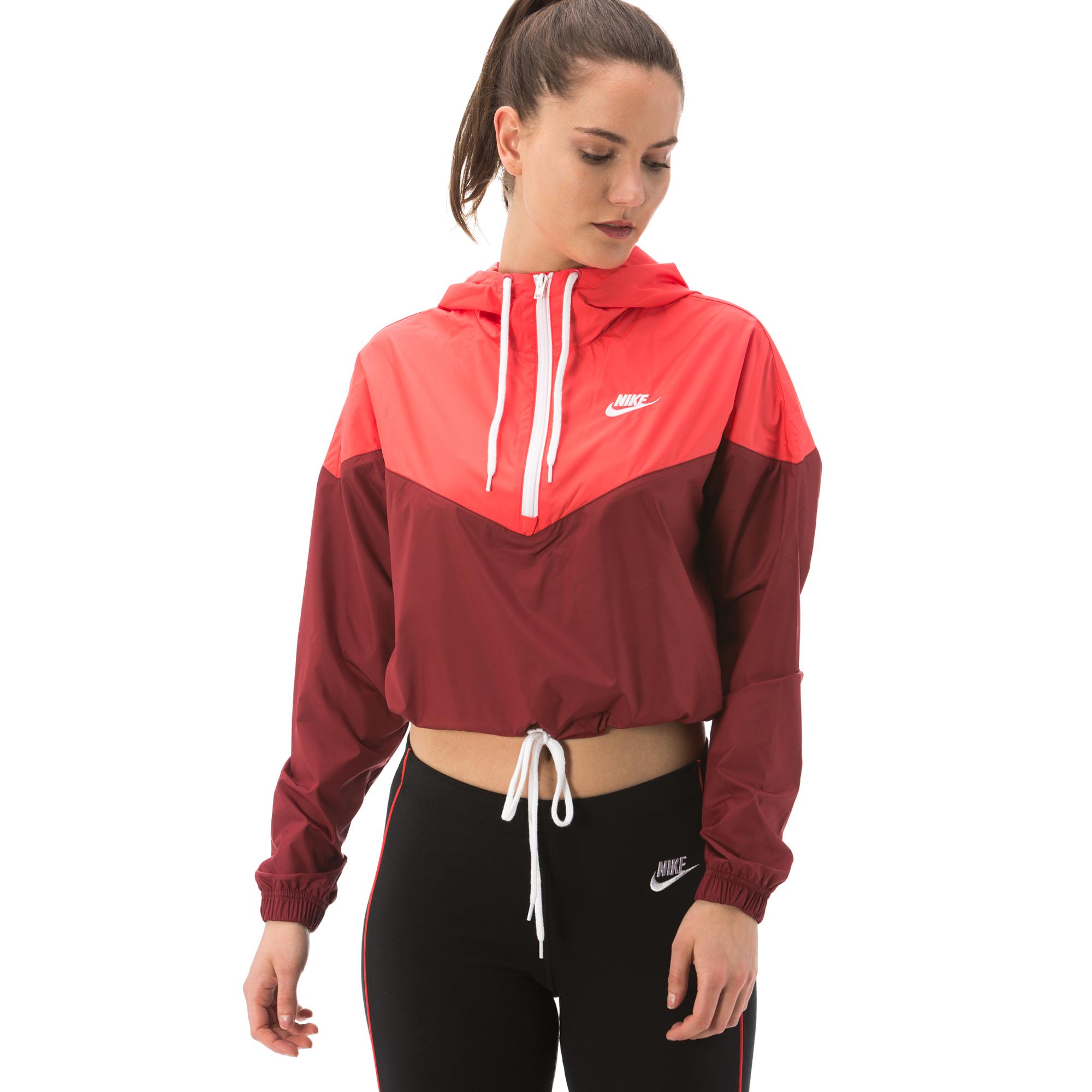 Nike Sportswear Heritage Kadın Kırmızı Sweatshirt