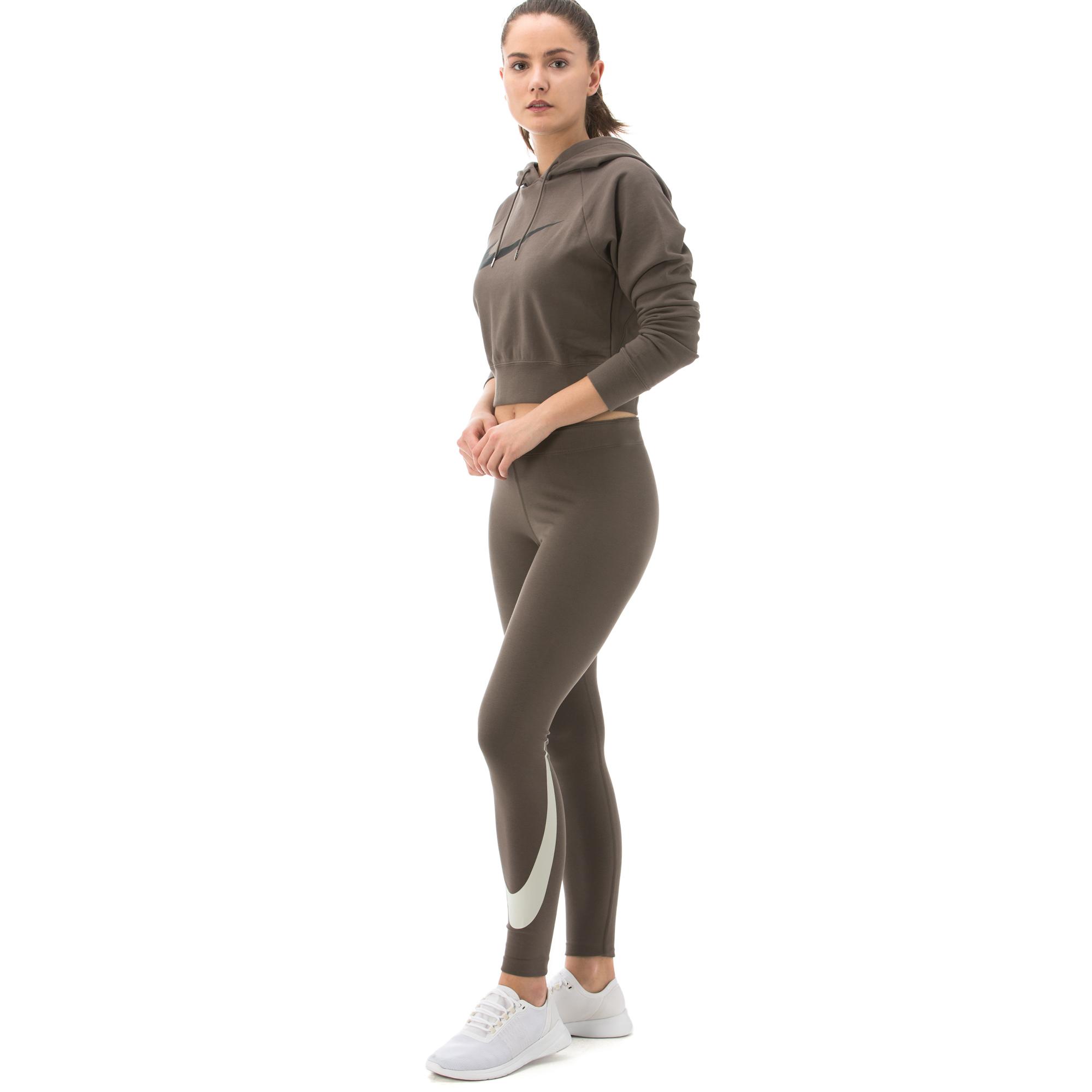 Nike Legasee Swoosh Kadın Kahverengi Tayt