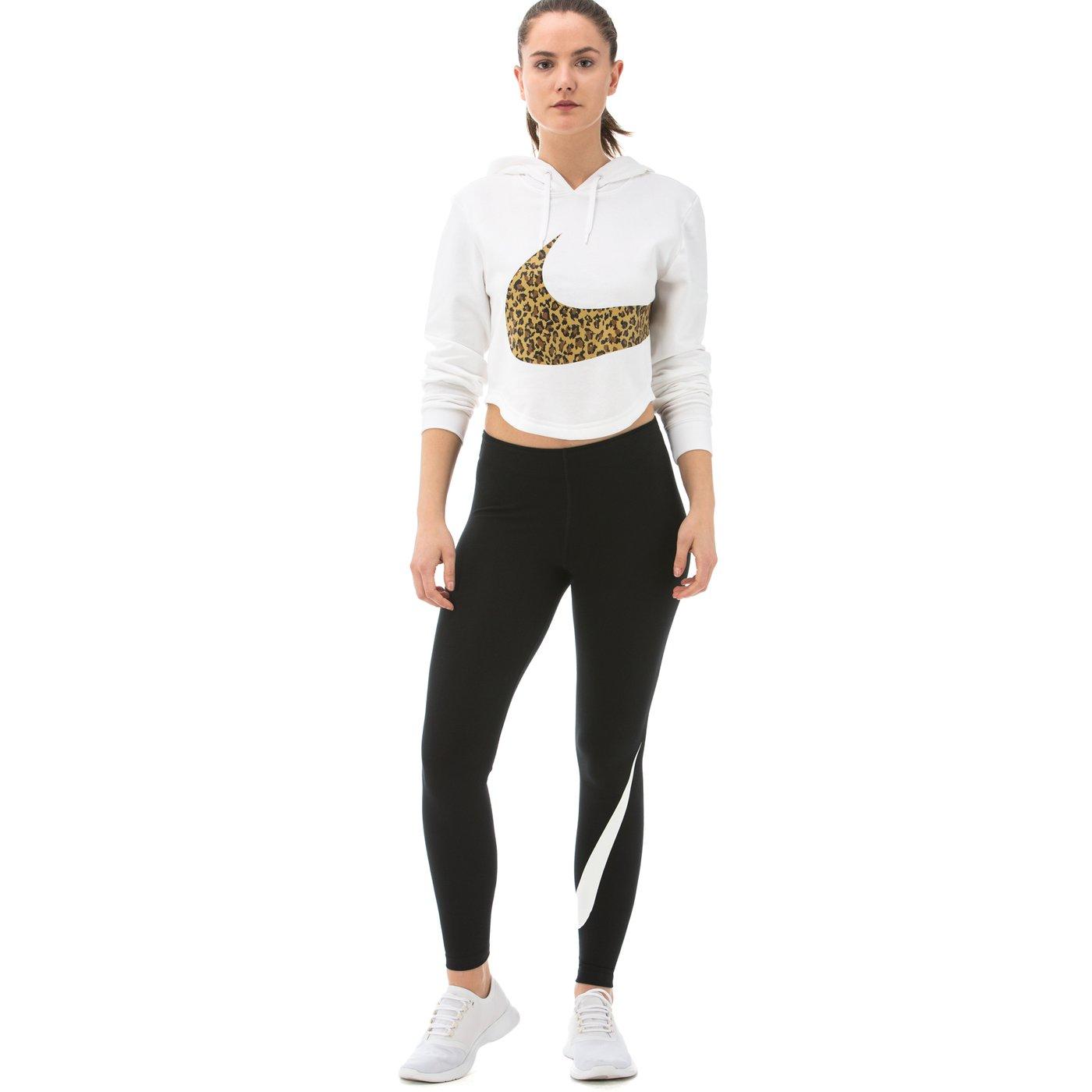 Nike Legasee Swoosh Kadın Siyah Tayt