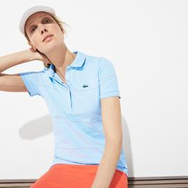 Lacoste Kadın Çizgili Renkli Polo