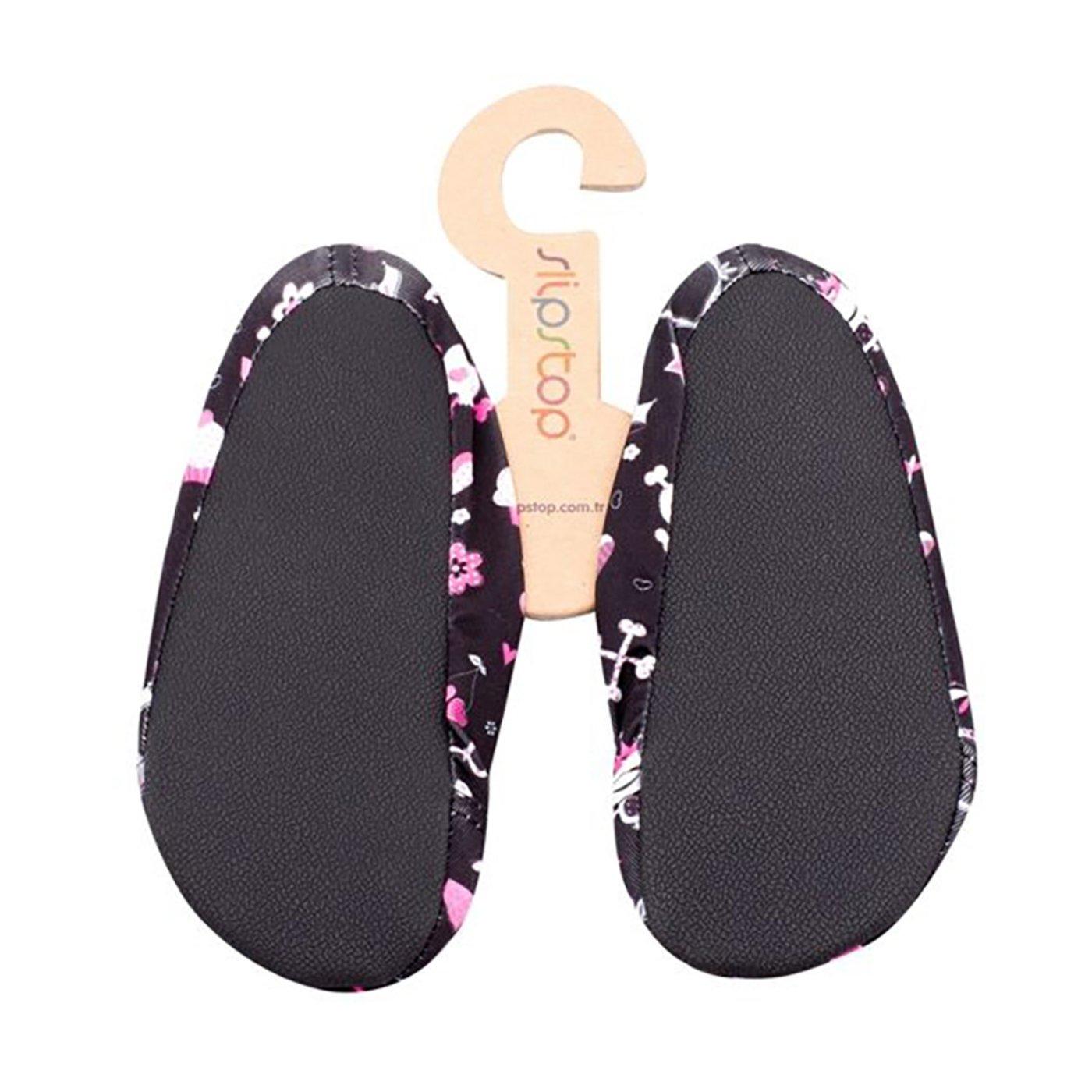 Slipstop Skull Siyah Çocuk Havuz Ayakkabısı