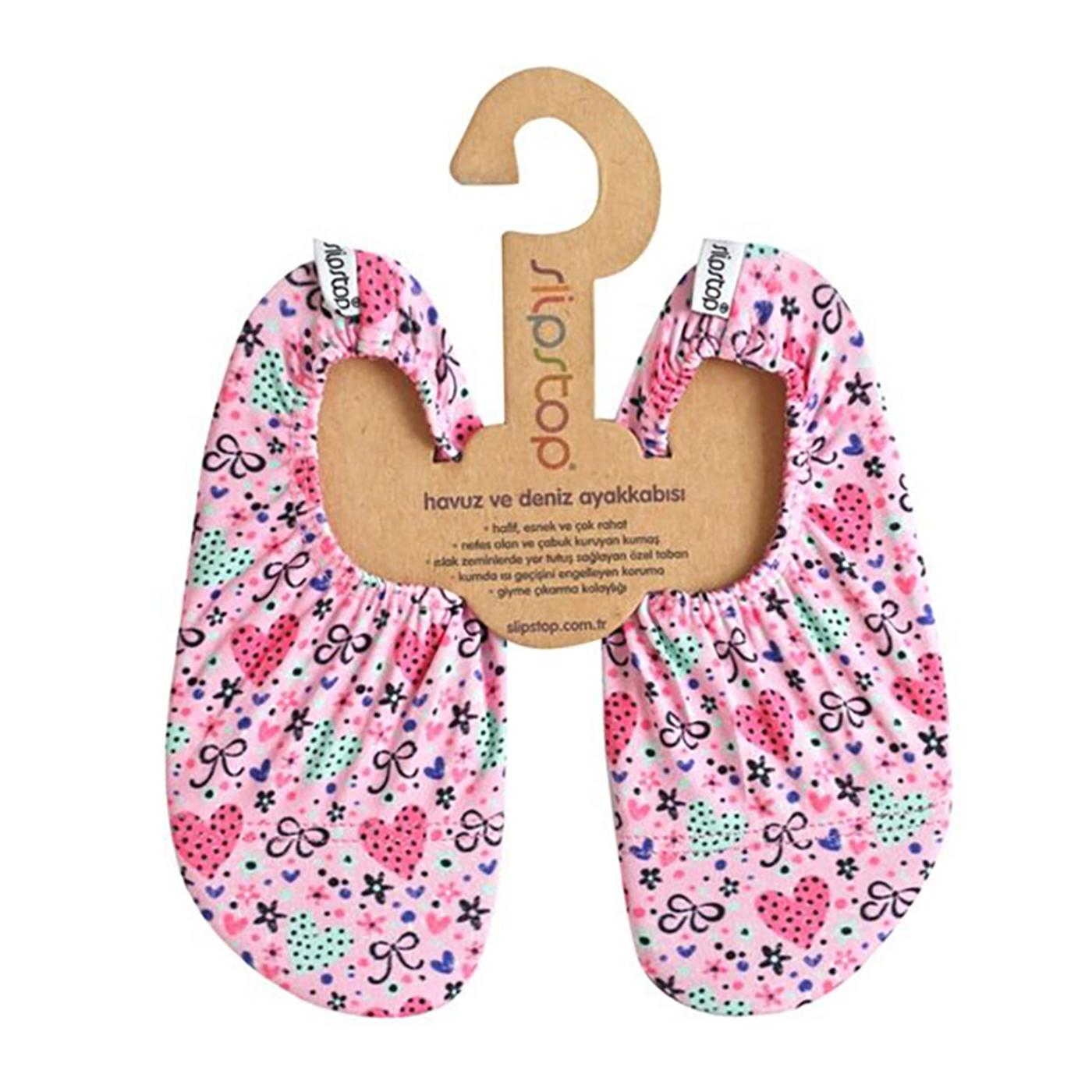 Slipstop Bow Pembe Çocuk Havuz Ayakkabısı