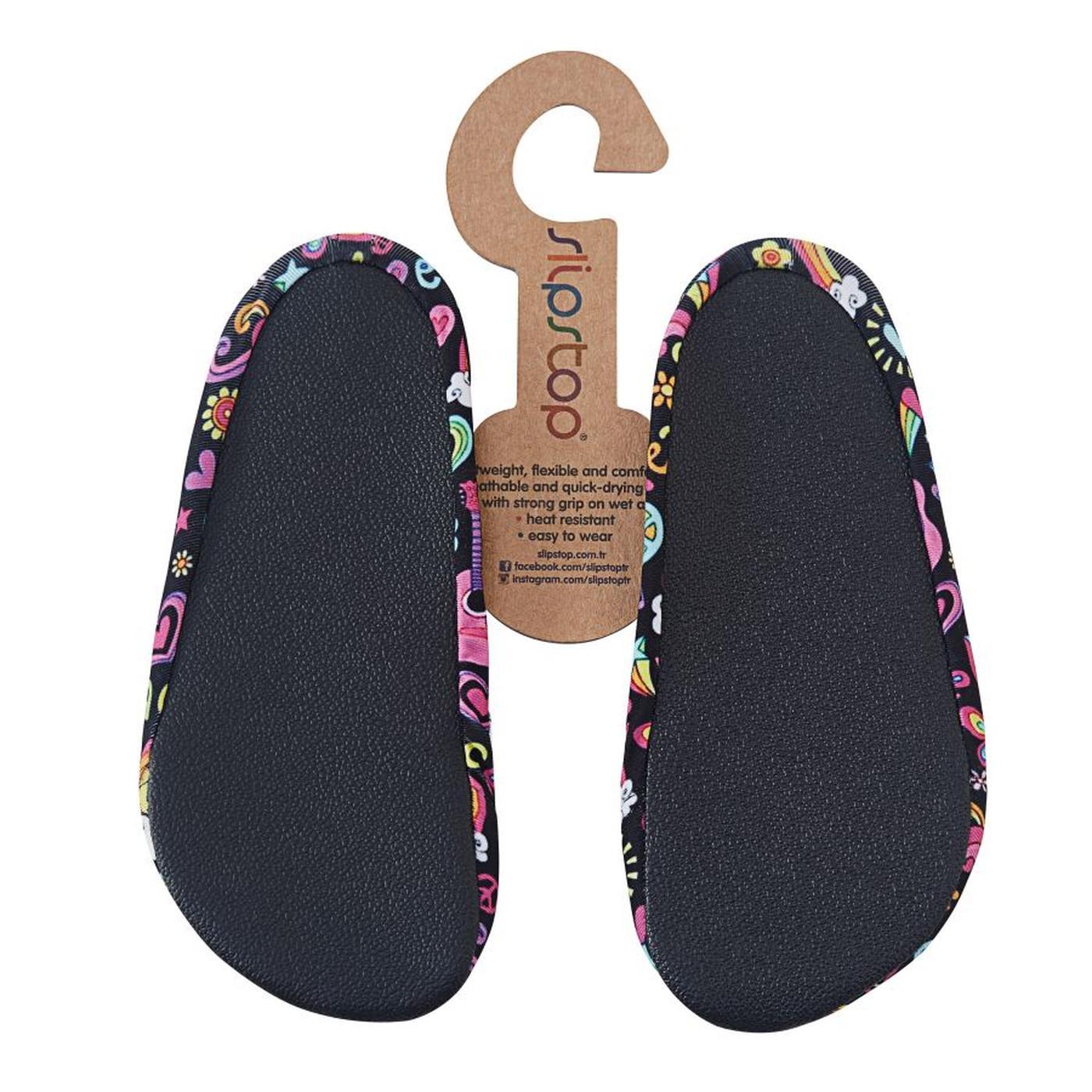 Slipstop Peace Junior Siyah Çocuk Havuz Ayakkabısı