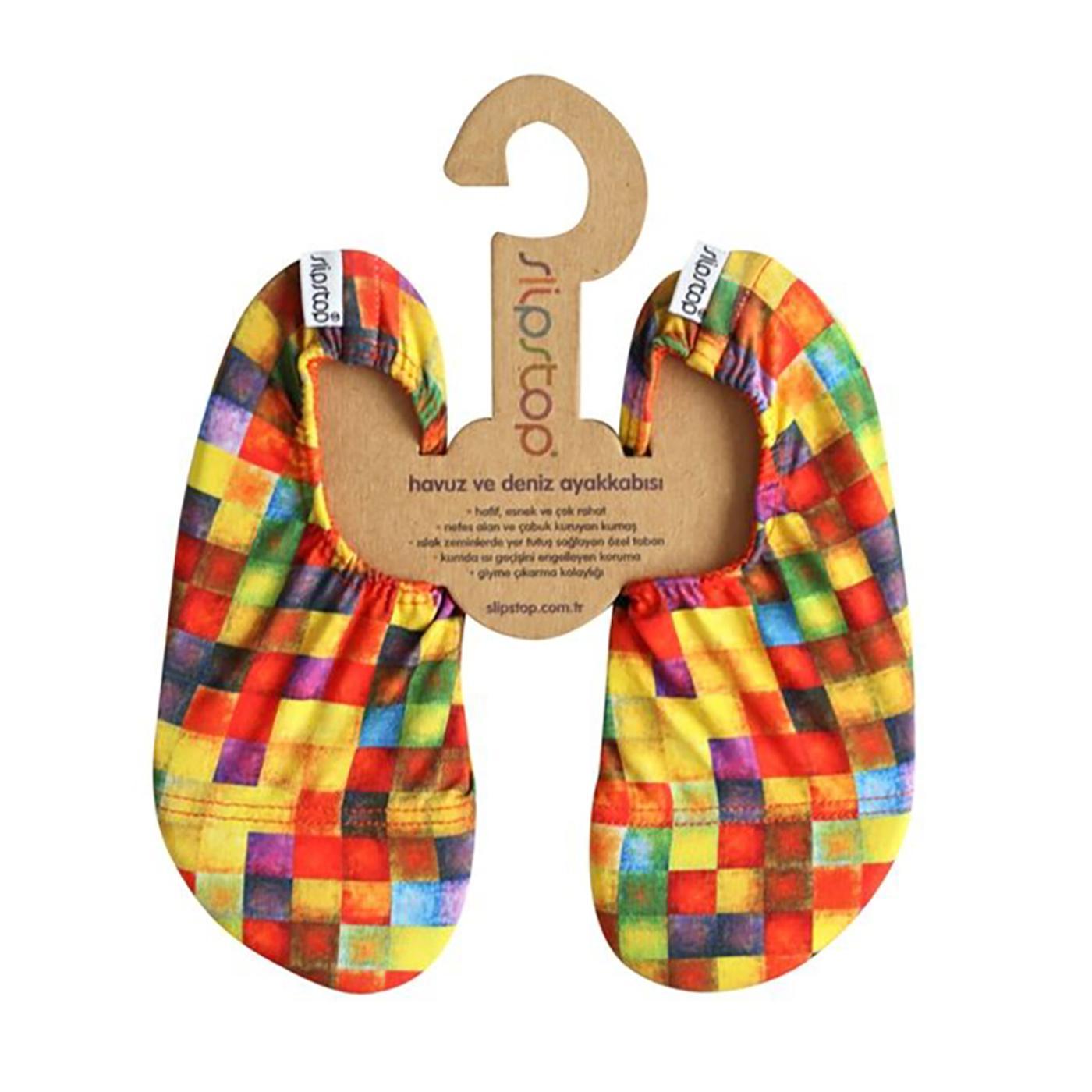 Slipstop Checked Junior Renkli Çocuk Havuz Ayakkabısı