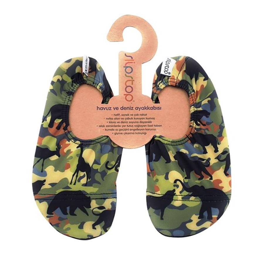 Slipstop Safari Yeşil Çocuk Havuz Ayakkabısı
