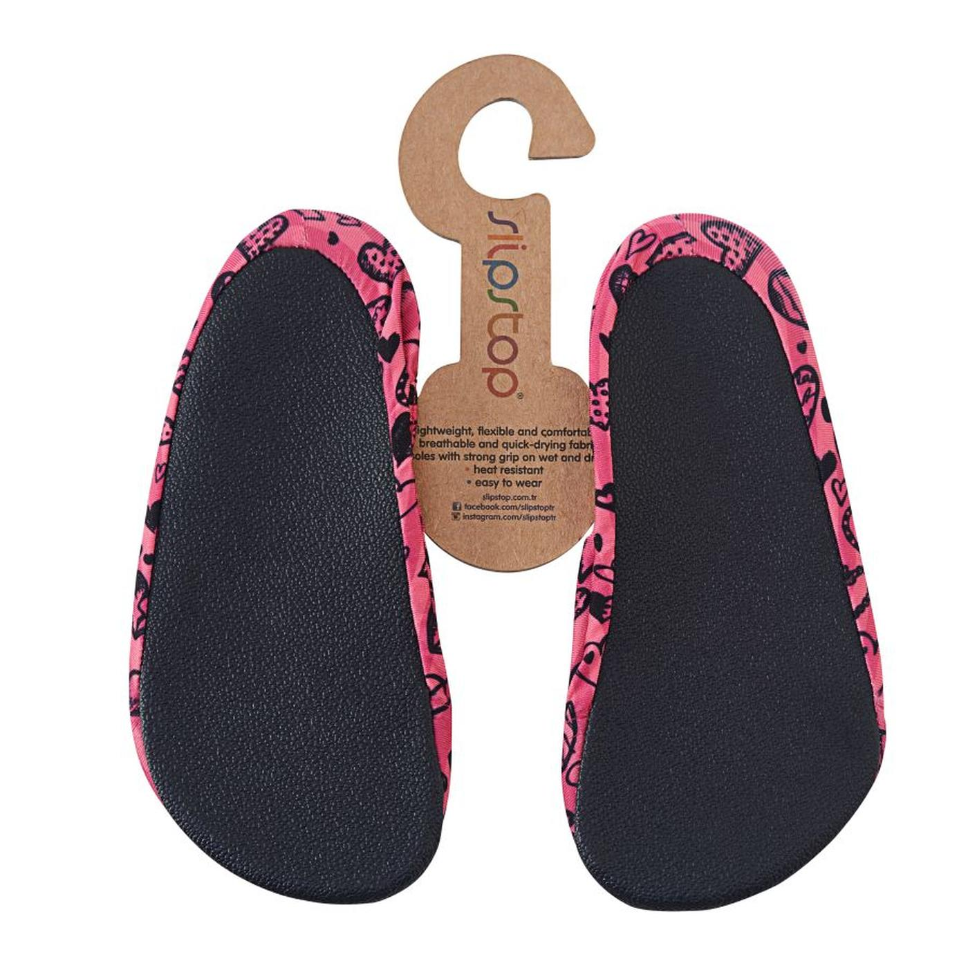 Slipstop Black Heart Çocuk Pembe Havuz Ayakkabısı