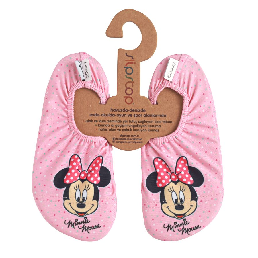 Slipstop Doty Disney Minnie Çocuk Renkli Havuz Ayakkabısı