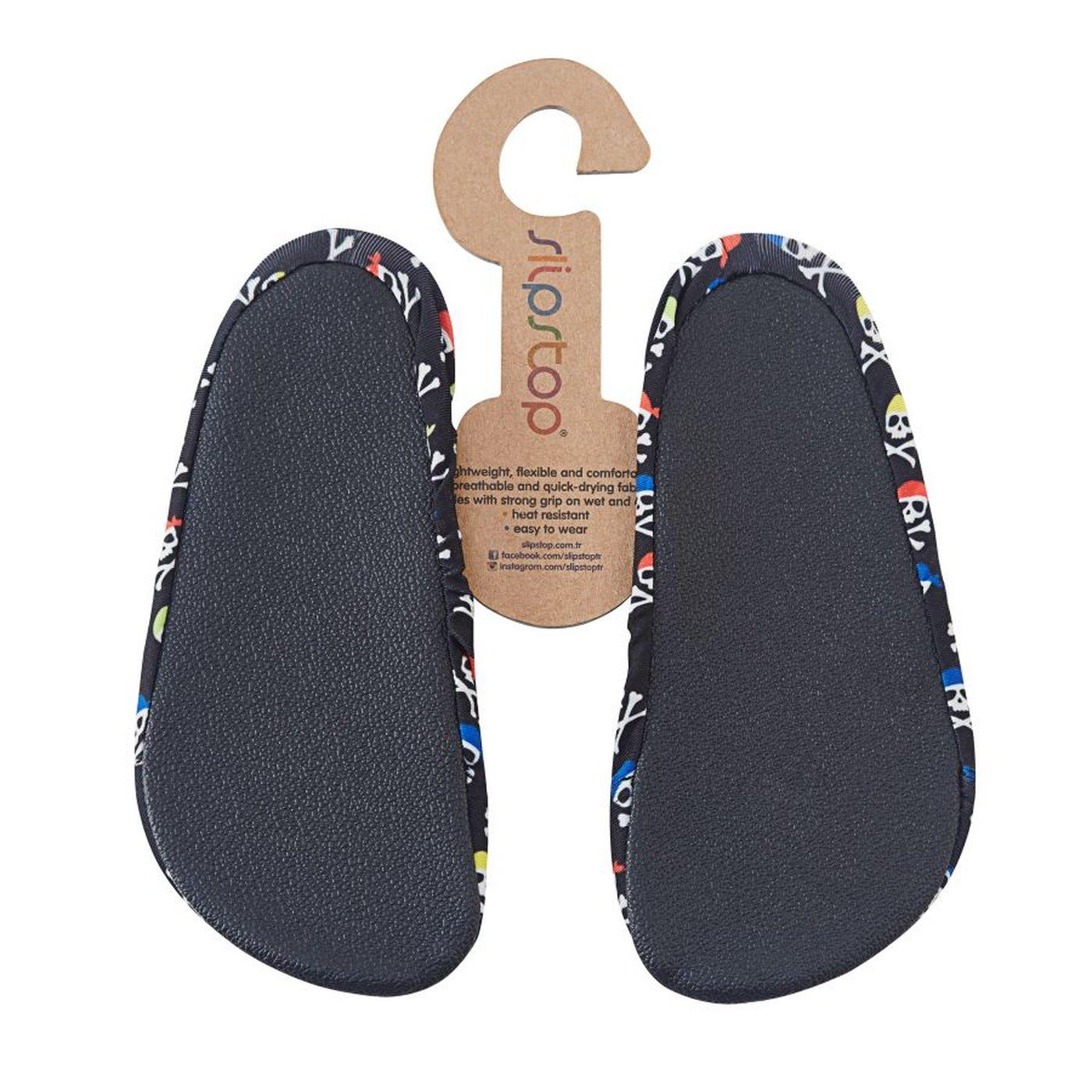 Slipstop Moto Çocuk Siyah Havuz Ayakkabısı
