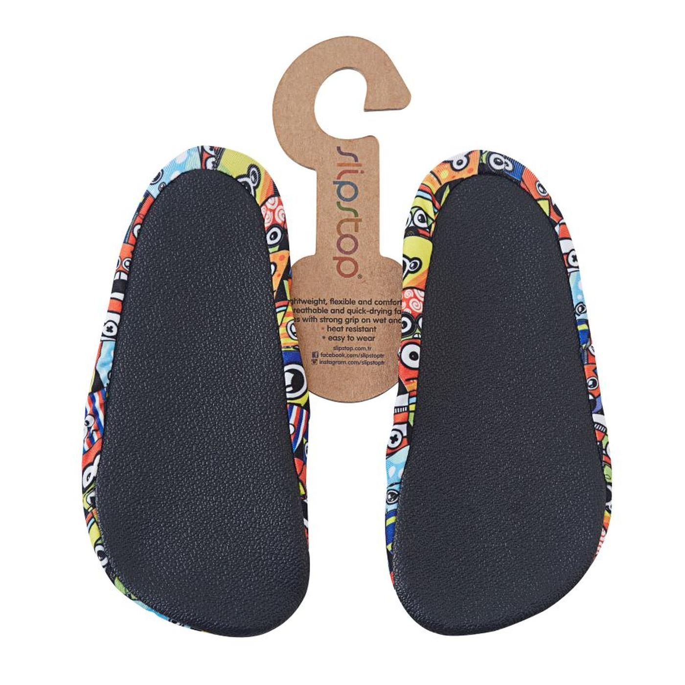 Slipstop Popcorn Renkli Çocuk Havuz Ayakkabısı