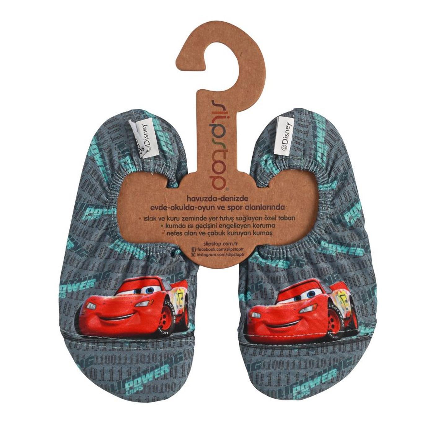 Slipstop Power Disney Cars Çocuk Renkli Havuz Ayakkabısı