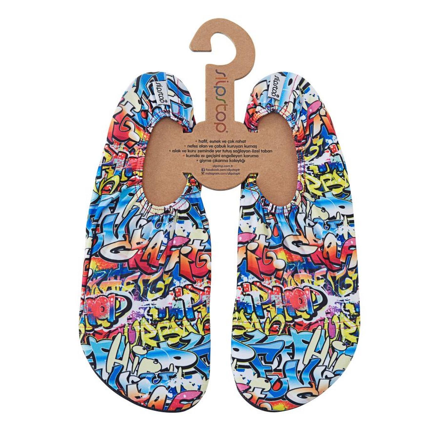 Slipstop Hiphop Unisex Renkli Havuz Ayakkabısı