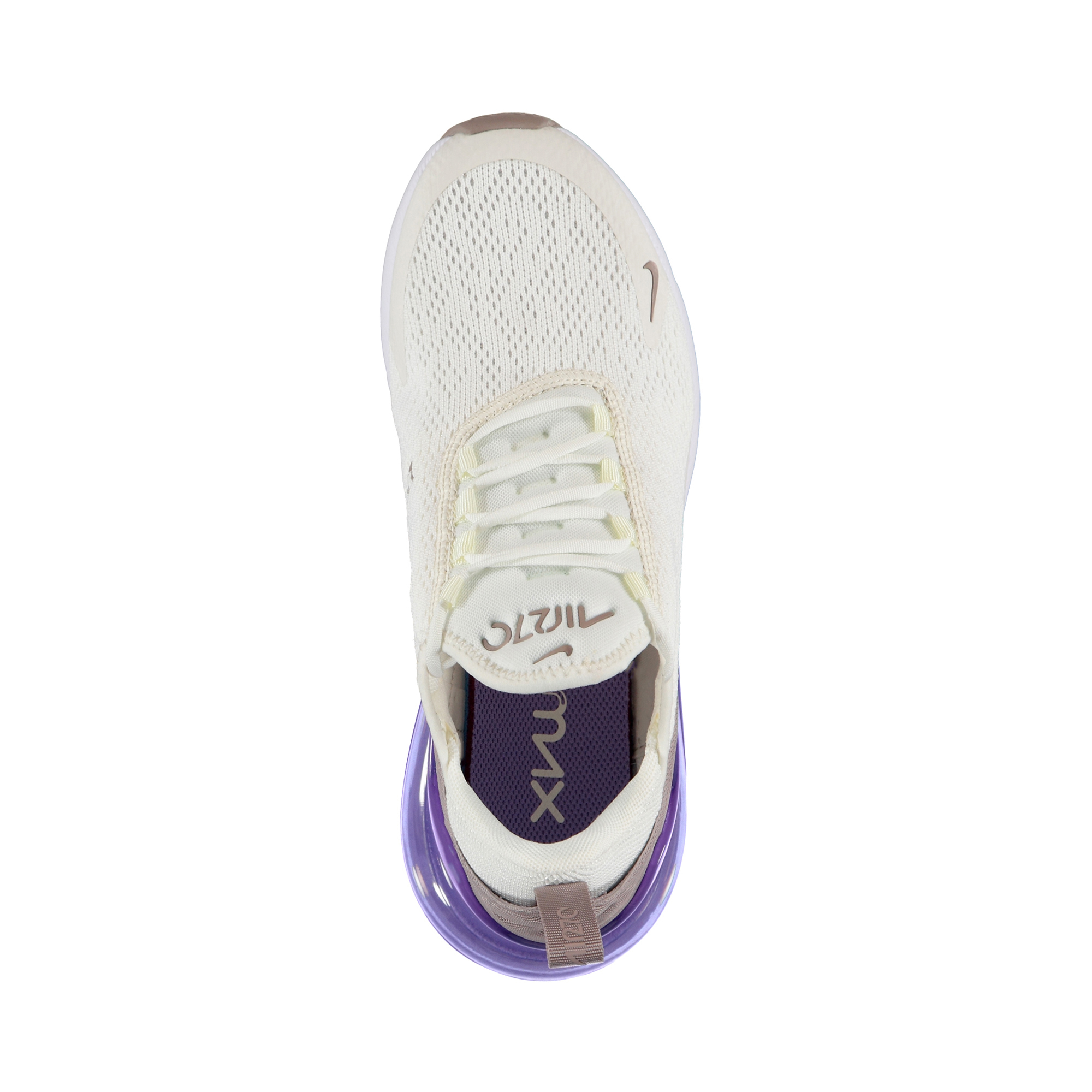 Nike Air Max 270 Kadın Ekru-Mor Spor Ayakkabı
