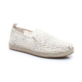 Toms Lace Leaves Deconstructed Kadın Krem Espadril