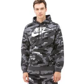 Nike Club Erkek Siyah-Gri Camo Sweatshirt