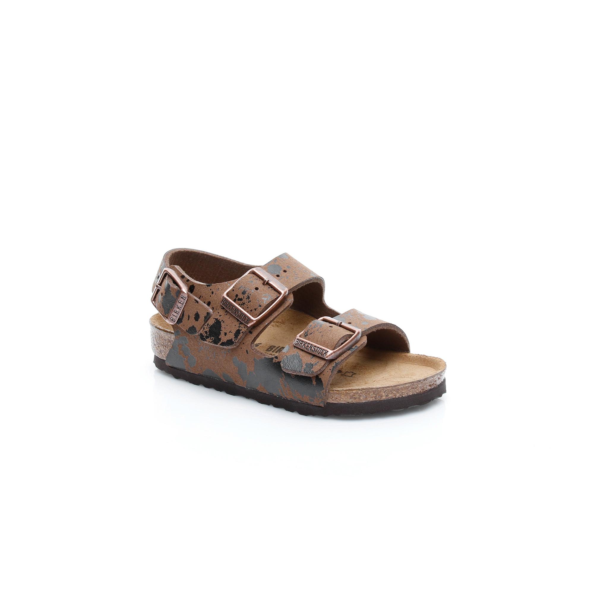 Birkenstock Milano MF Çocuk Kahverengi Sandalet
