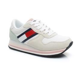 Tommy Hilfiger Retro Jeans Kadın Beyaz Spor Ayakkabı