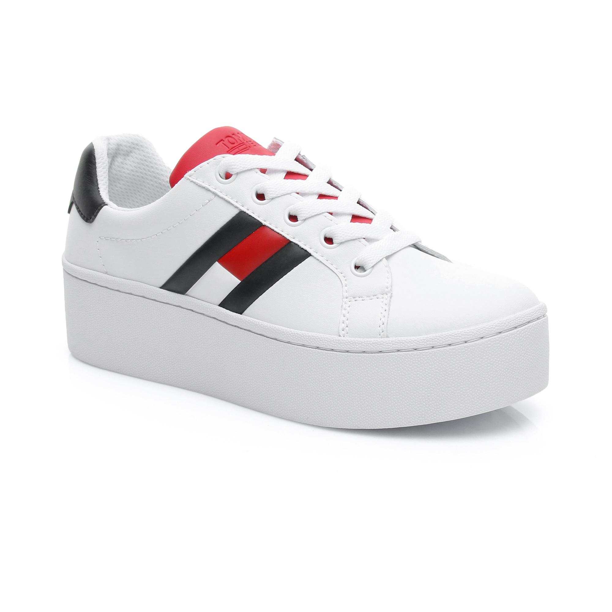 Tommy Hilfiger Jeans Icon Kadın Beyaz Spor Ayakkabı