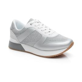 Tommy Hilfiger Glitter City Kadın Gümüş Spor Ayakkabı