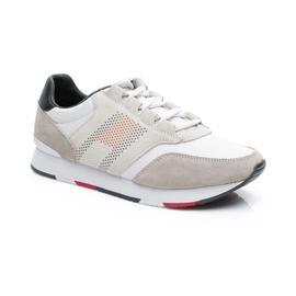 Tommy Hilfiger Corporate Material Mix Runner Erkek Beyaz Spor Ayakkabı