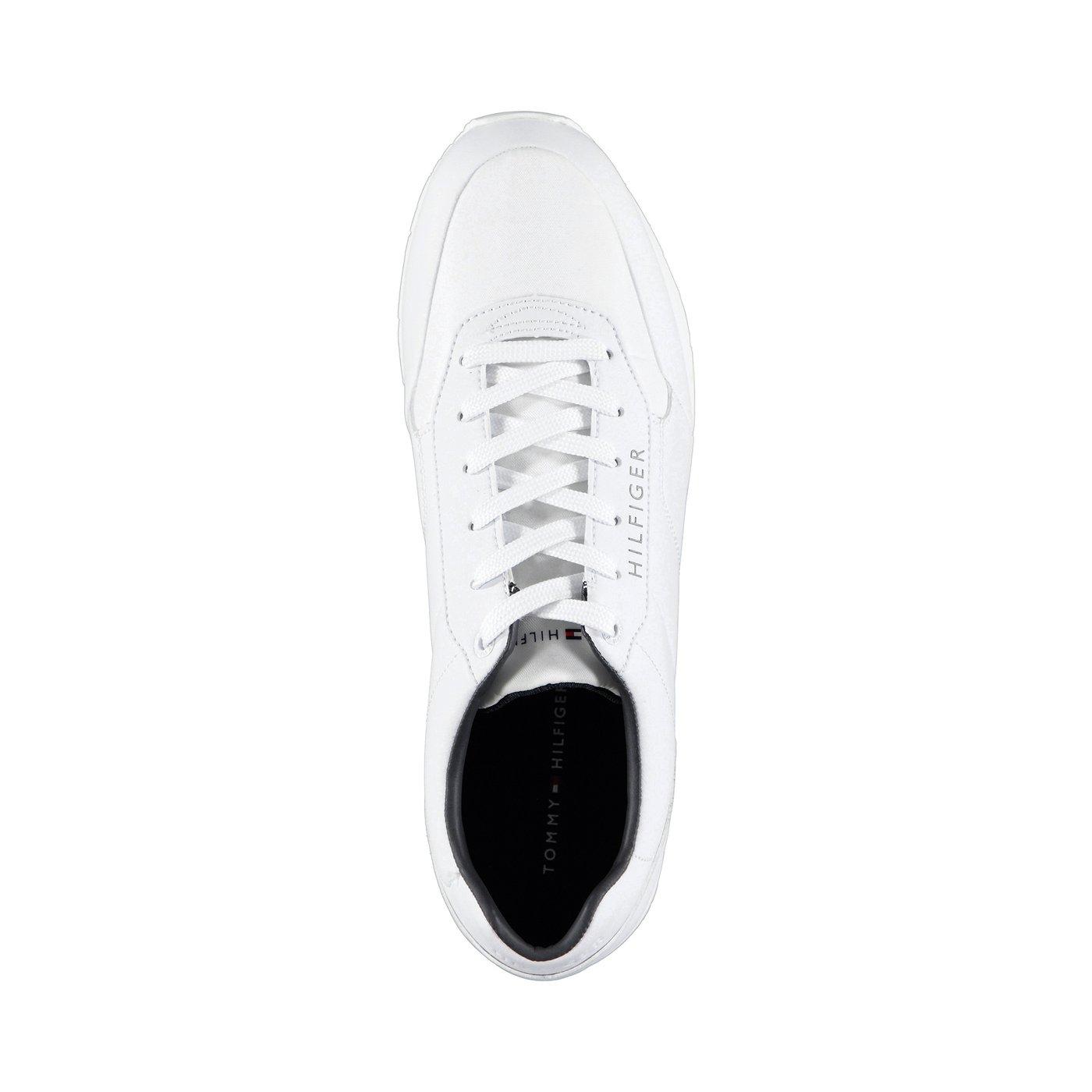Tommy Hilfiger Corporate Leather Runner Erkek Beyaz Spor Ayakkabı